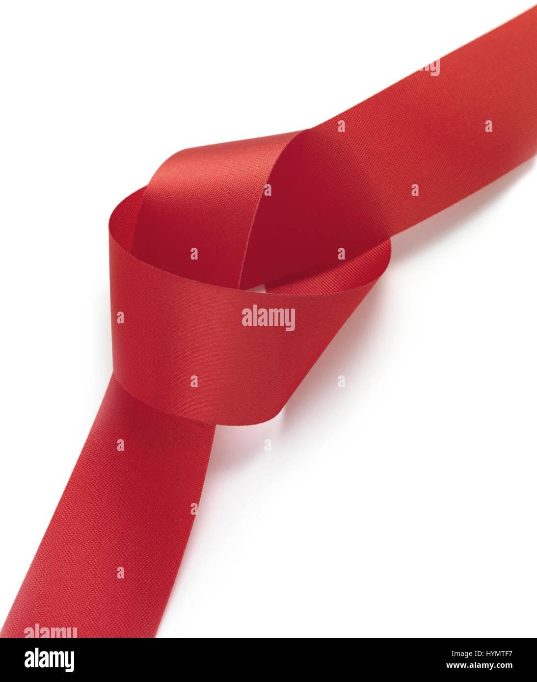 Aislados de la cinta roja Foto de stock