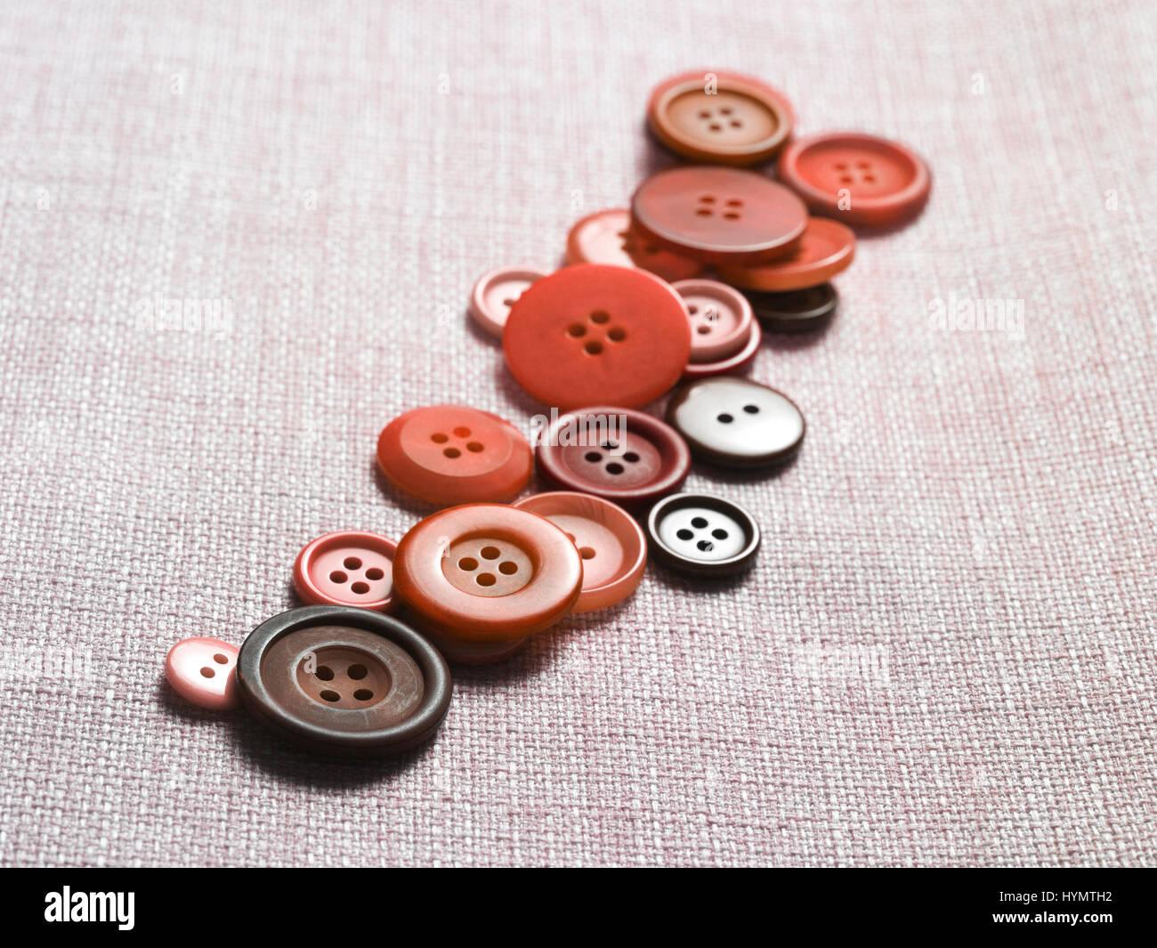 Línea de botón rojo Foto de stock