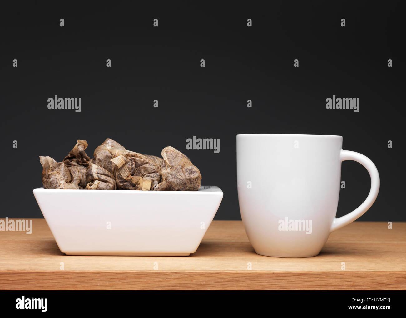 Aislados de bolsa de té Foto de stock