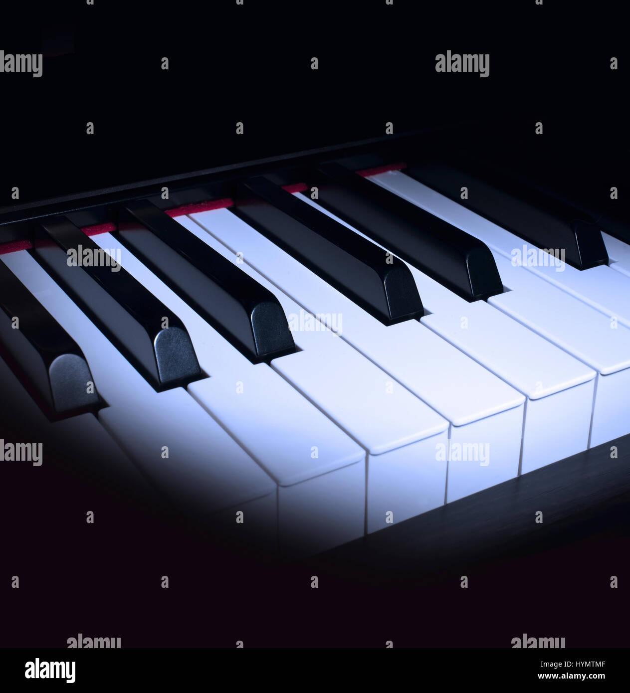 Teclas del piano Cerrar Foto de stock