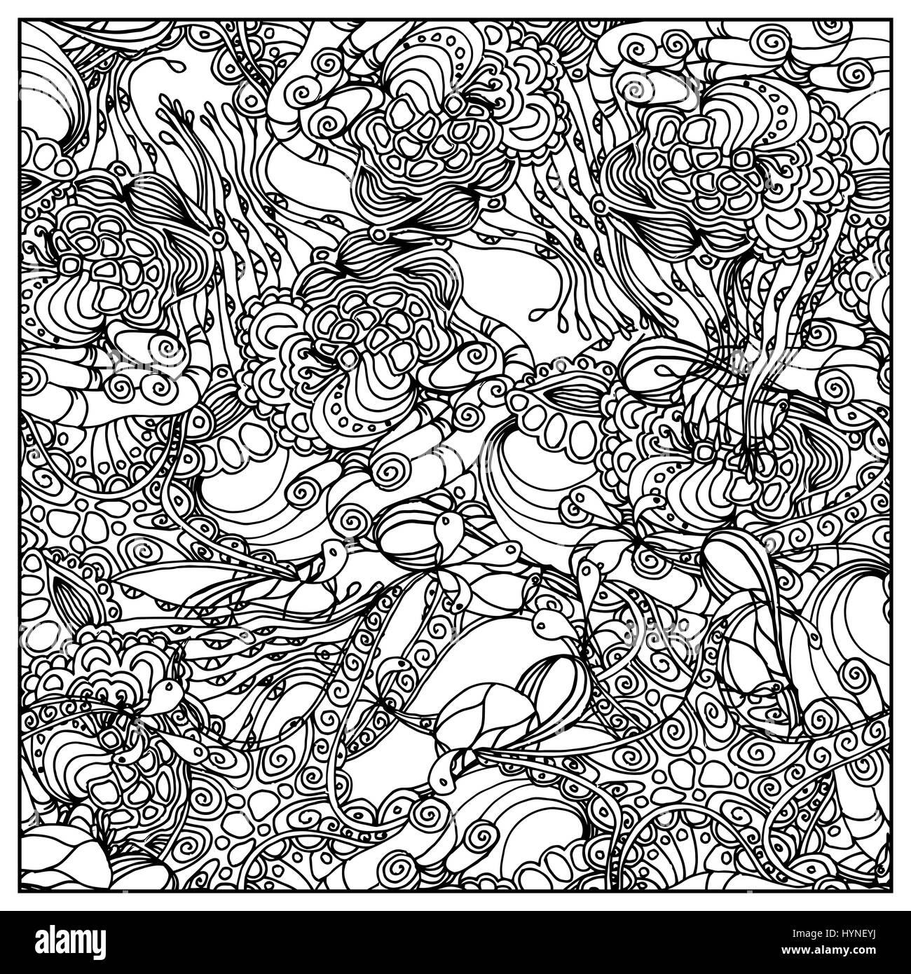 Negro mono color ilustración vectorial. Diseño de la página de libro ...