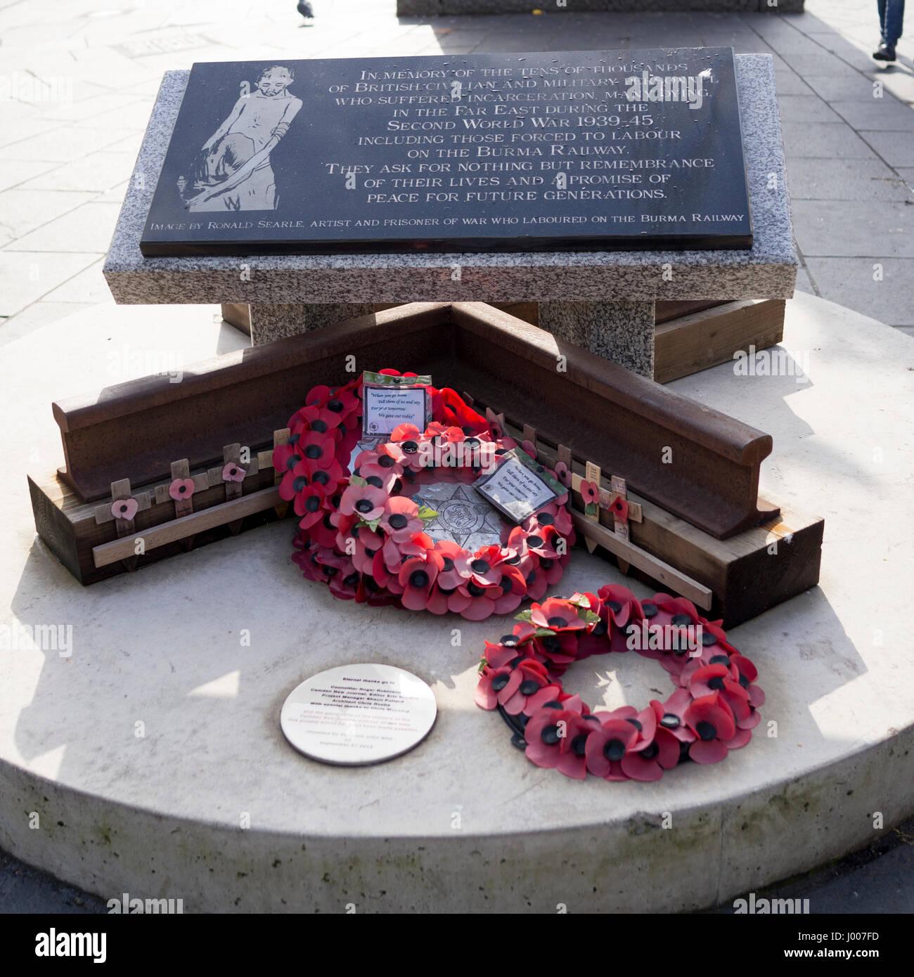 Memorial a los militares y civiles detenidos en campamentos en el Lejano Oriente durante la segunda guerra mundial Imagen De Stock