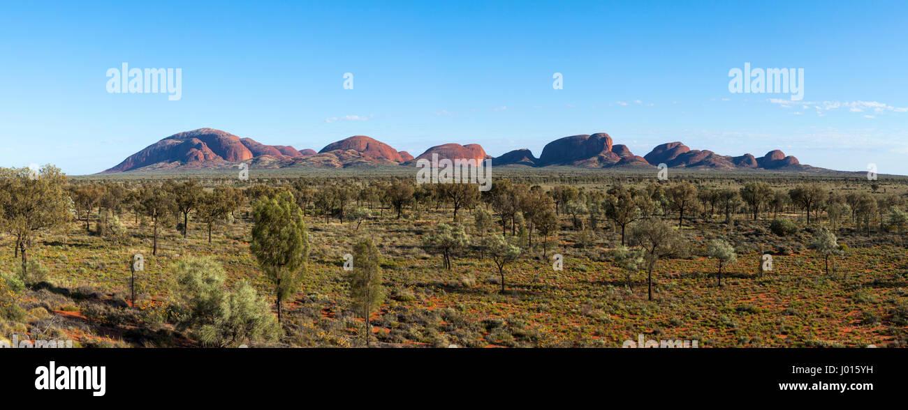 Las Olgas o Kata Tjuta, el Parque Nacional de Uluru-Kata Tjuta, el Territorio del Norte, Australia Foto de stock