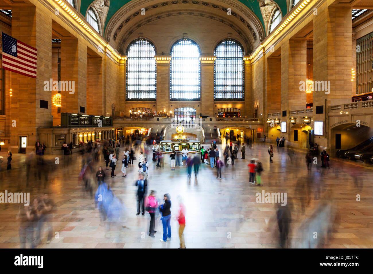Vestíbulo principal Grand Central Terminal en Manhattan, Ciudad de Nueva York en el interior del edificio la Imagen De Stock