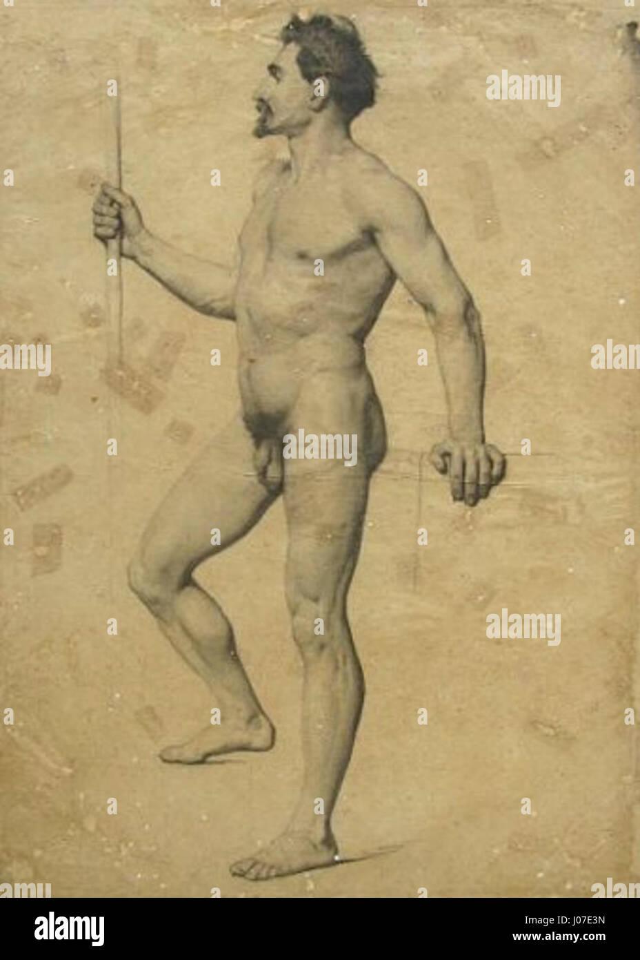 Victor Meirelles - Nu masculino de pé, em Peril (académico) Imagen De Stock