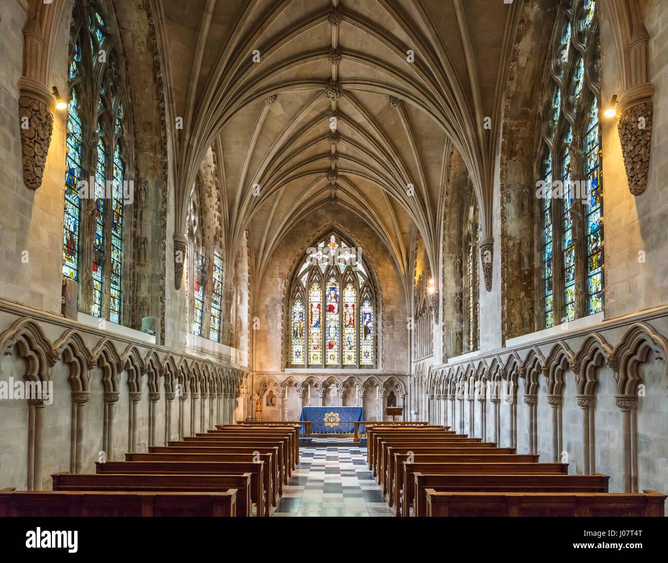 La Catedral de St Albans. Medieval del siglo XIV Lady Chapel en la Catedral y la iglesia de la abadía de St Imagen De Stock
