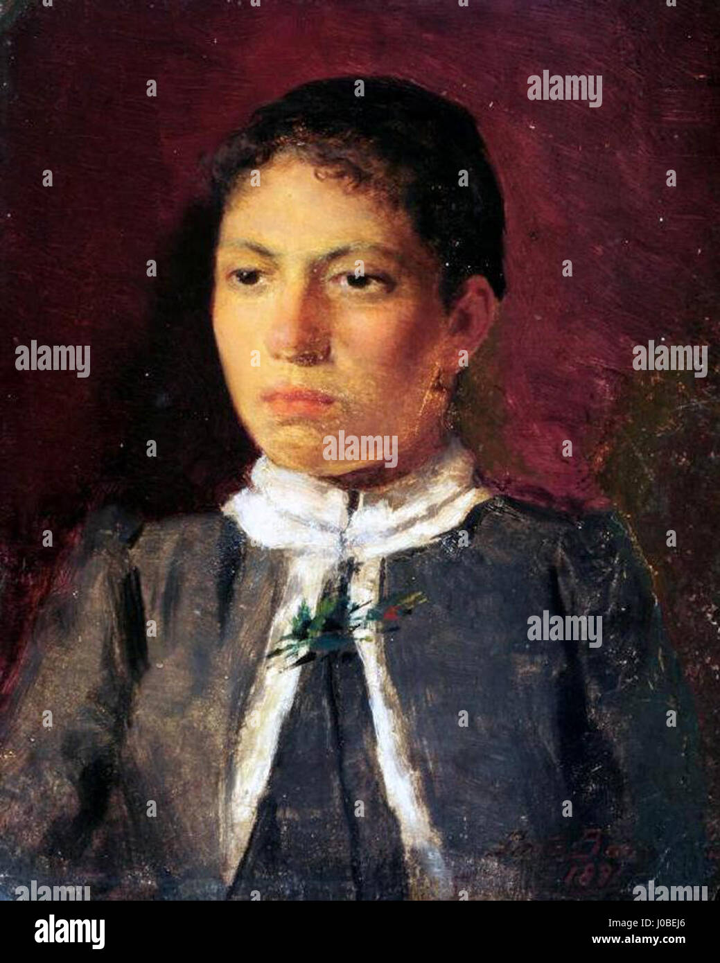 Antônio Rafael Pinto Bandeira - Retrato de mulher Foto de stock