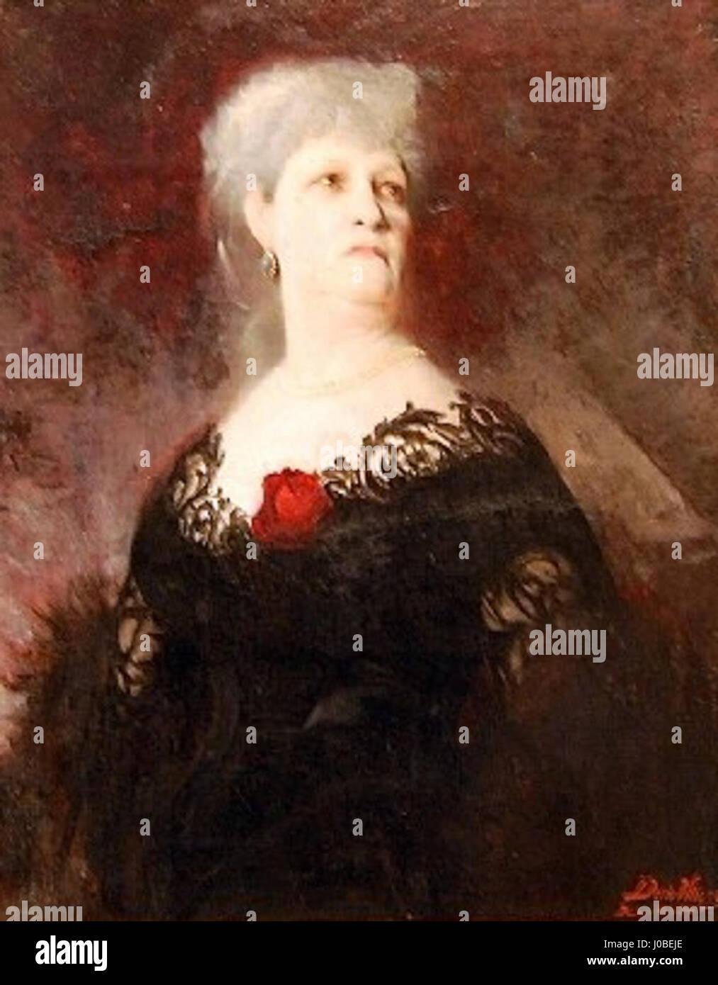 Décio Villares - Retrato de senhora, 1885 Foto de stock