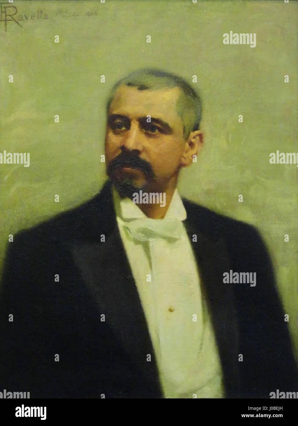 Enrico Ravetta - Retrato de Júlio de Castilhos Foto de stock