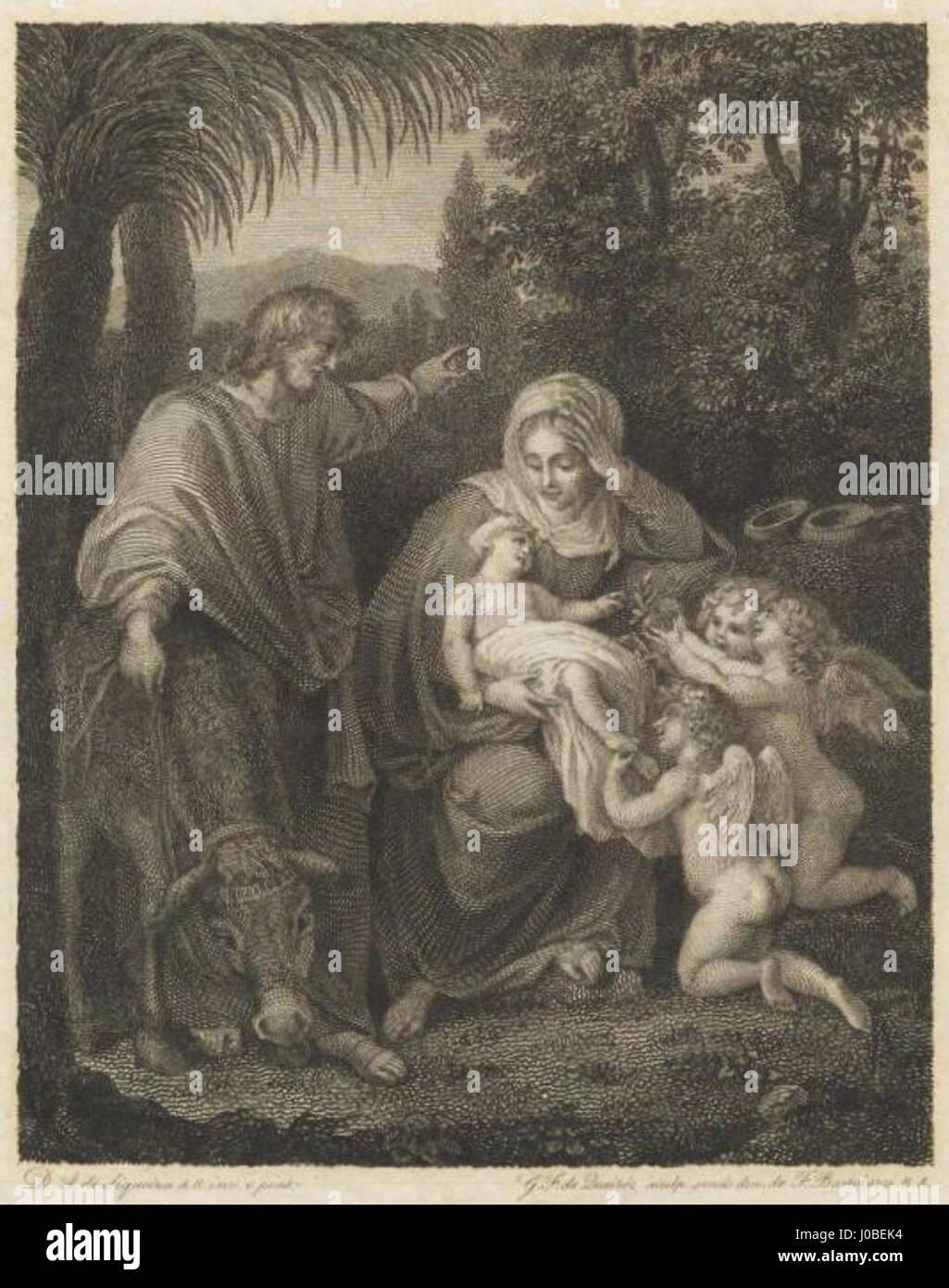 Francisco de Gregório Queirós - Nossa Senhora com o Menino Jesus, São José e três anjos Foto de stock