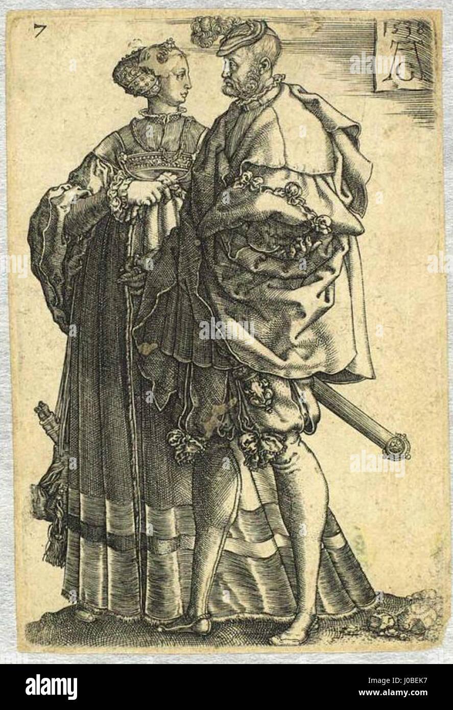 Heinrich Aldegrever - Um casal dança Foto de stock