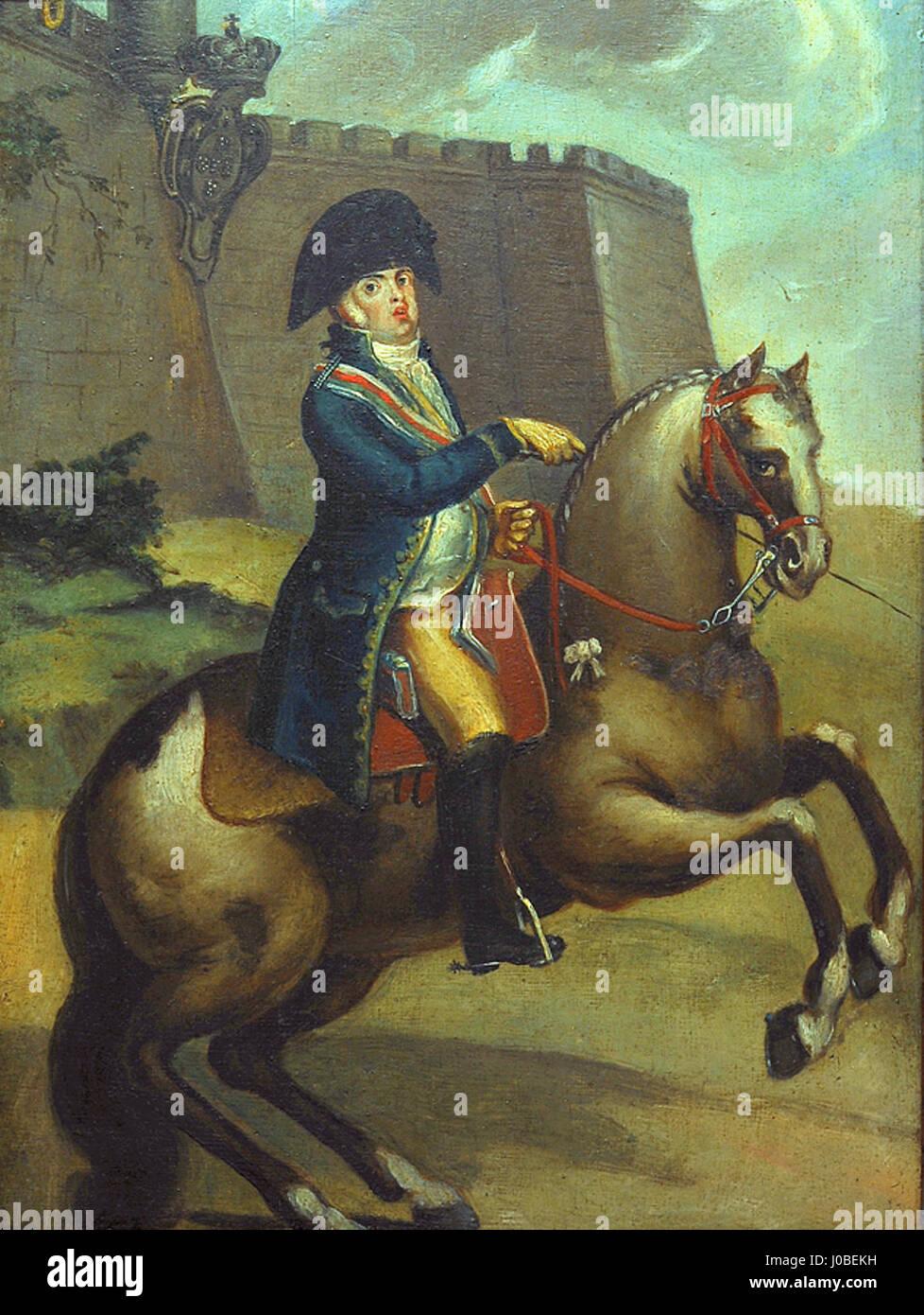 João Tomás da Fonseca - Retrato Equestre do Príncipe-Regente D. João Foto de stock