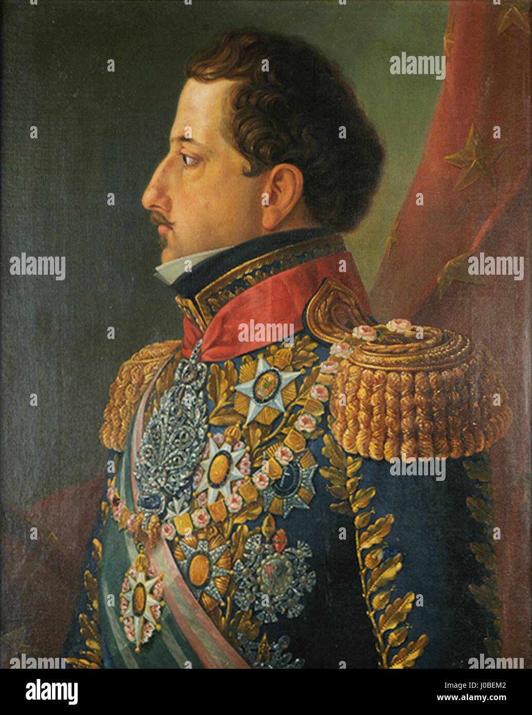 Manuel de Araújo Porto Alegre - Retrato de D. Pedro I Foto de stock