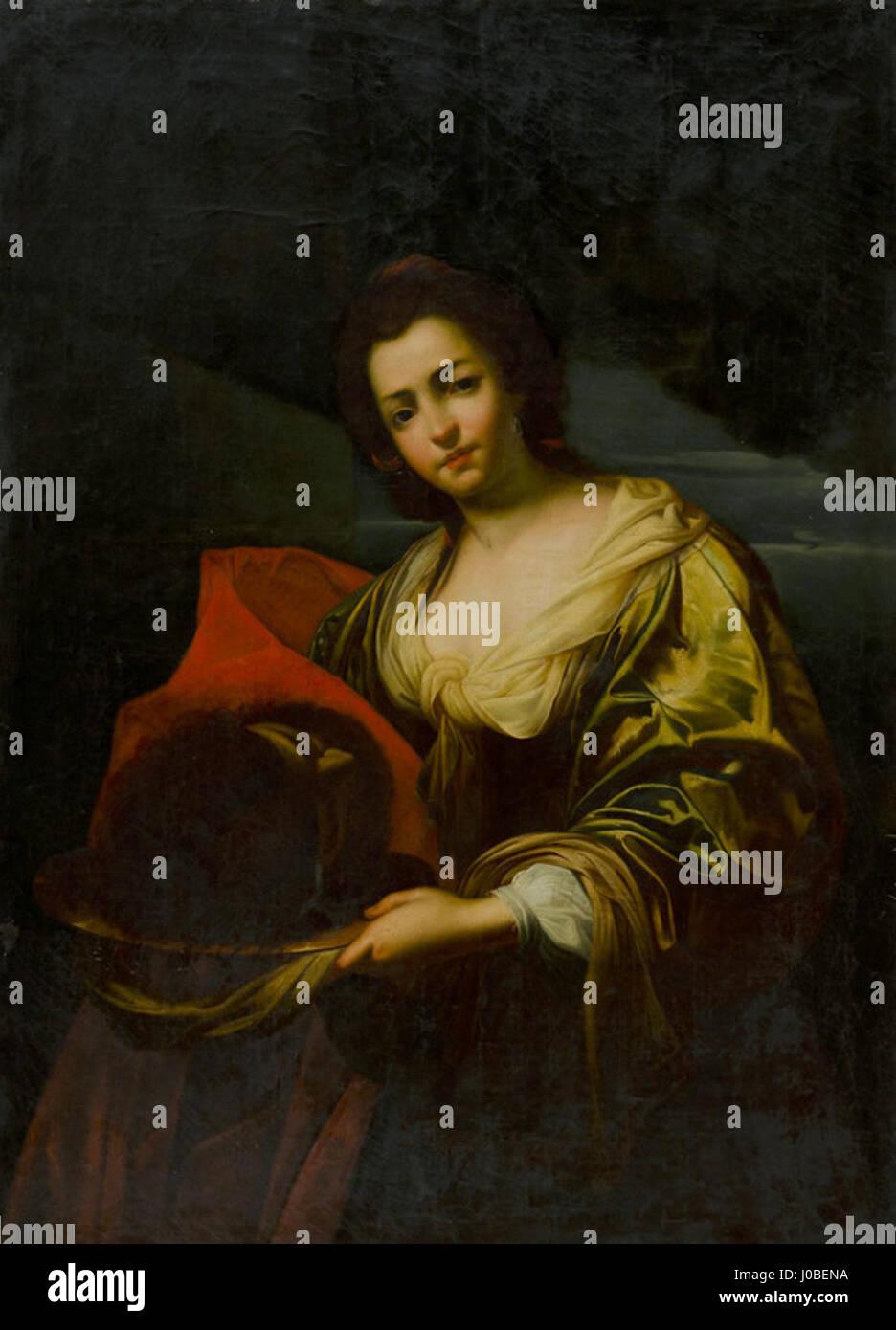 Simon Vouet (cópia) - Salomé com a cabeça de João Batista Foto de stock