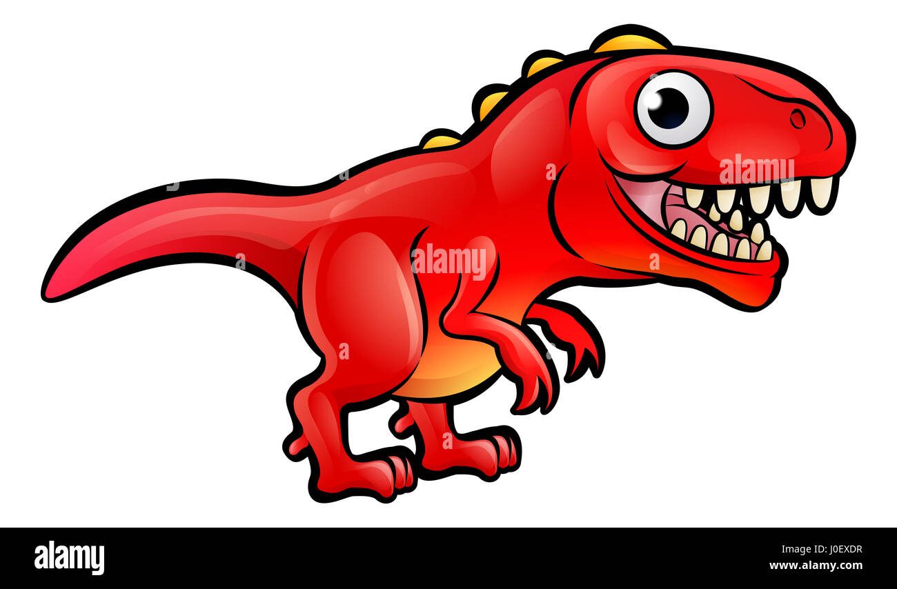 Un T Rex Dinosaurio Animales De Dibujos Animados Foto Imagen De