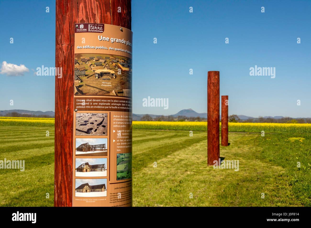 Oppidum galo de Corent, sitio arqueológico, Puy de Dôme, Francia, Europa Foto de stock