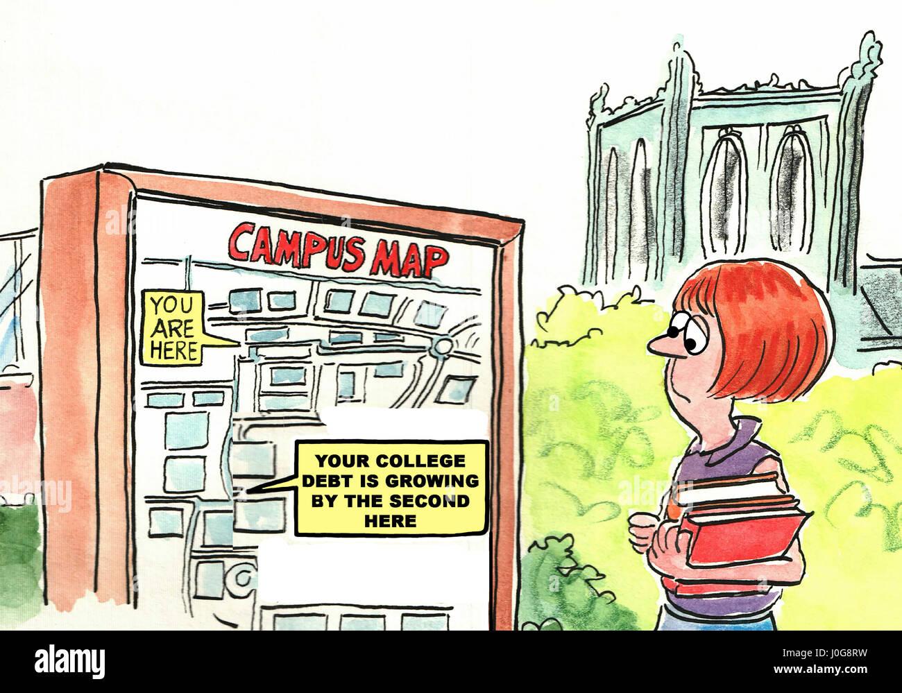 Ilustración de educación universitaria acerca del montaje de la ...