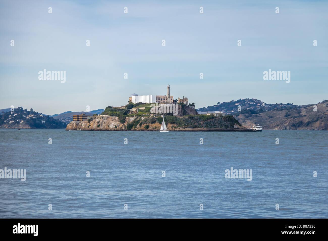 La Isla de Alcatraz - San Francisco, California, EE.UU. Foto de stock