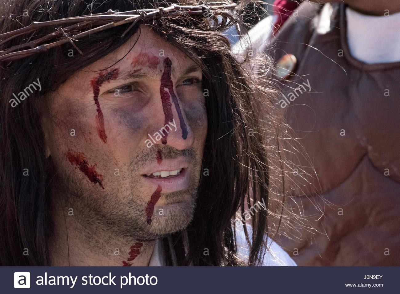 Toronto Canadá 14 Abr 2017 Interpretación De Jesús Con Corona De