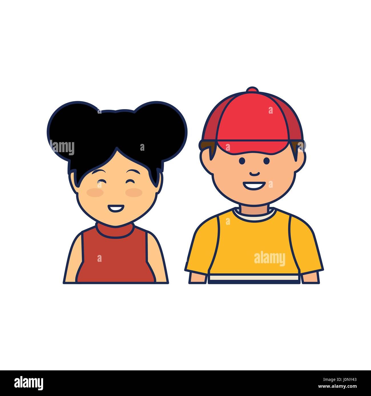 Jóvenes de etnia caracteres Imagen De Stock