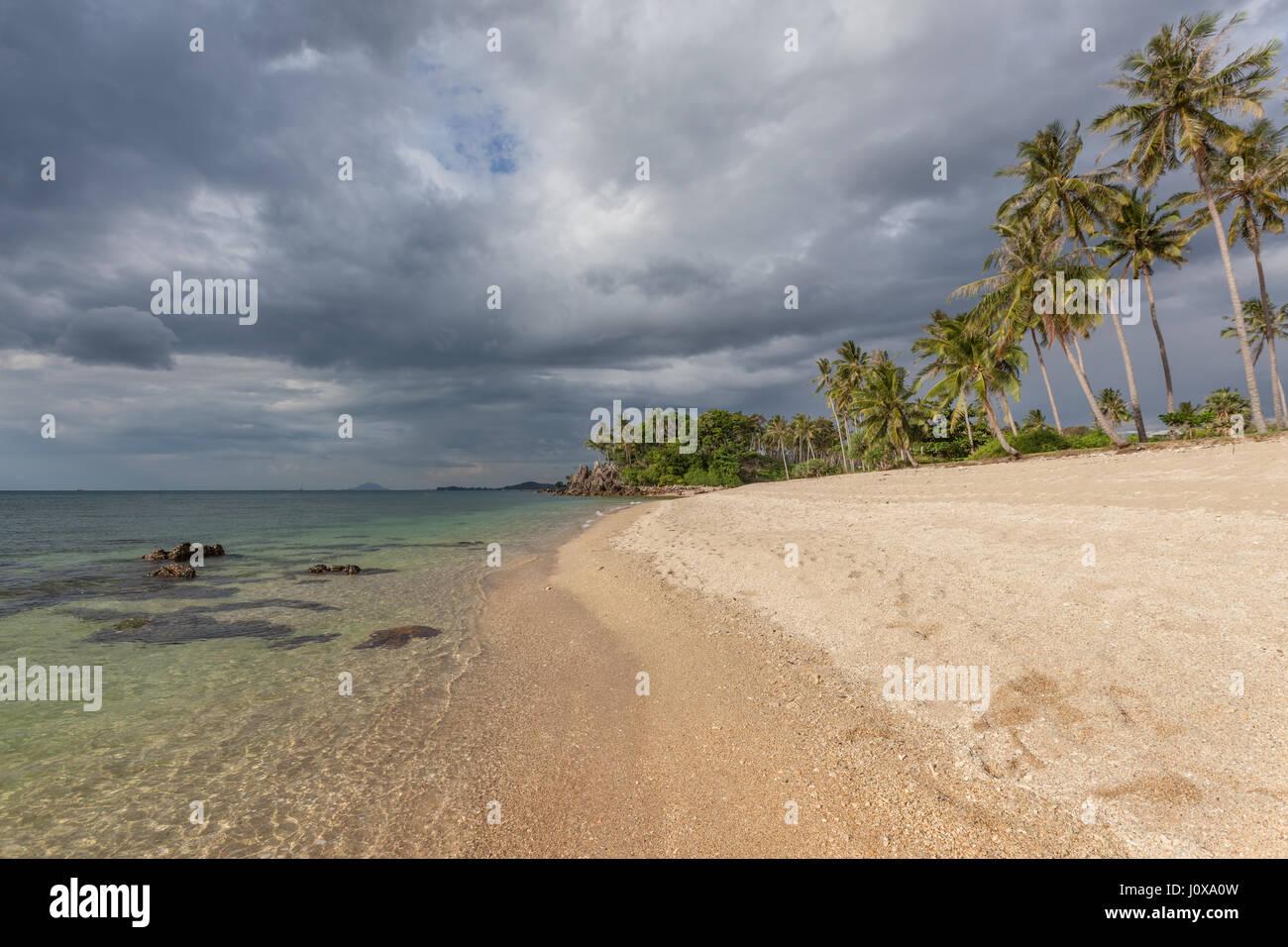 Long Beach en Koh Lanta Yai, provincia de Krabi, Tailandia, el sudeste de Asia Foto de stock
