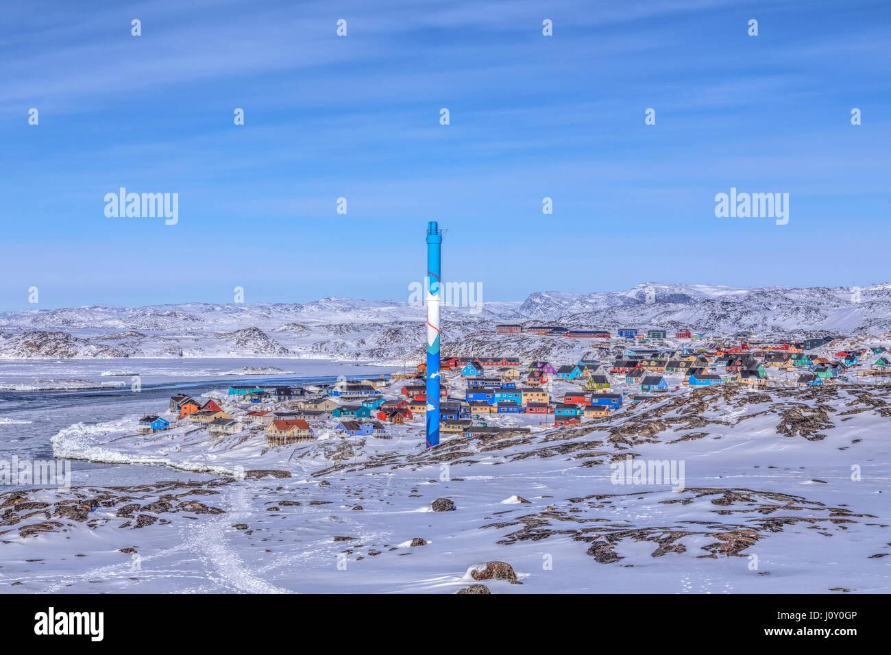 La ciudad de Ilulissat, Groenlandia Foto de stock
