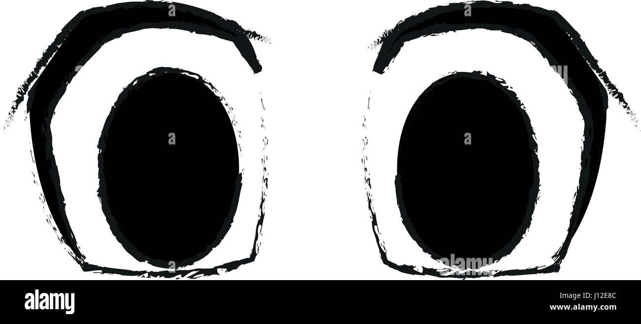 Los Grandes Ojos De Dibujos Animados Imagen De Icono