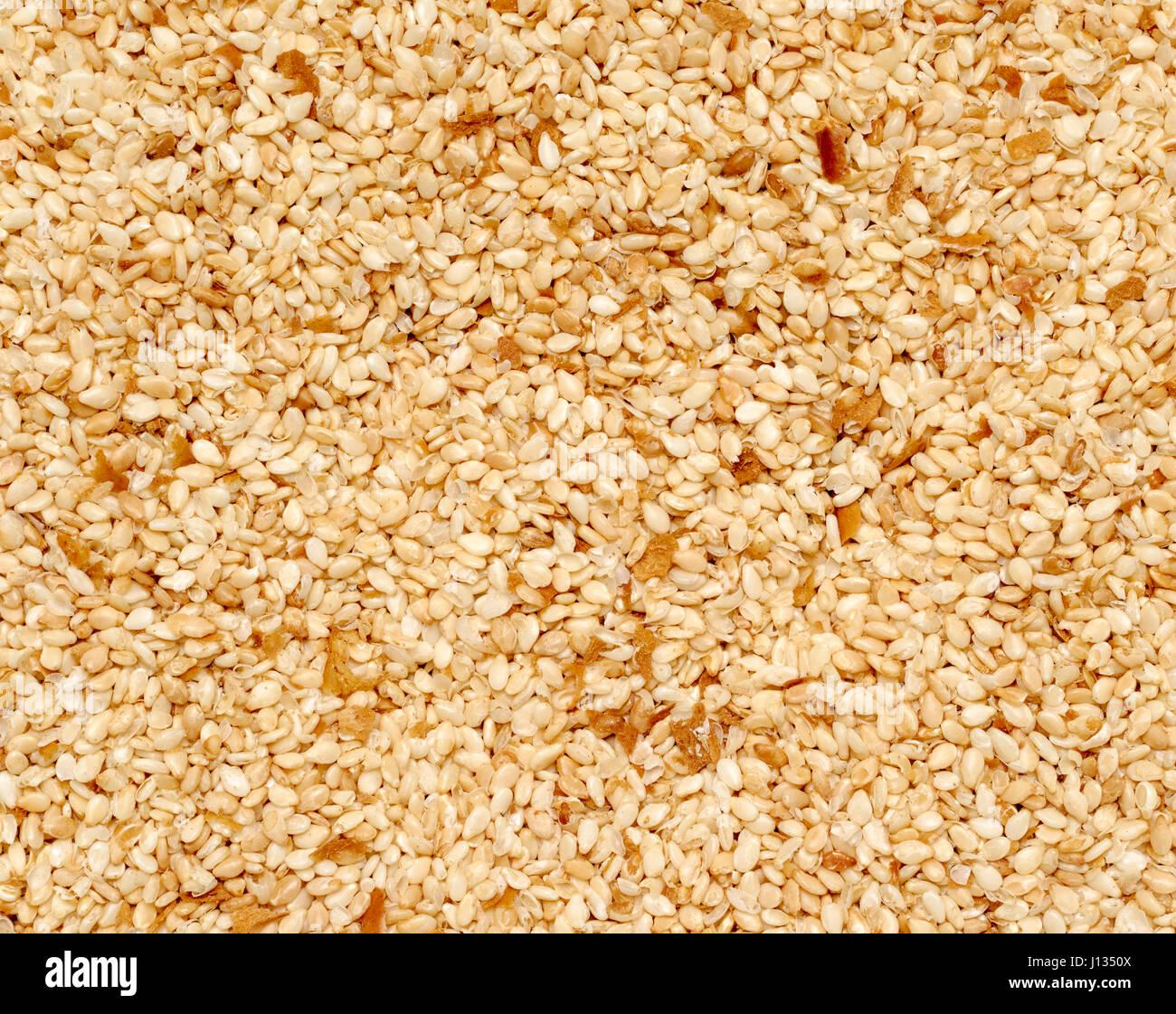 Full Frame closeup principalmente de las semillas de sésamo Imagen De Stock