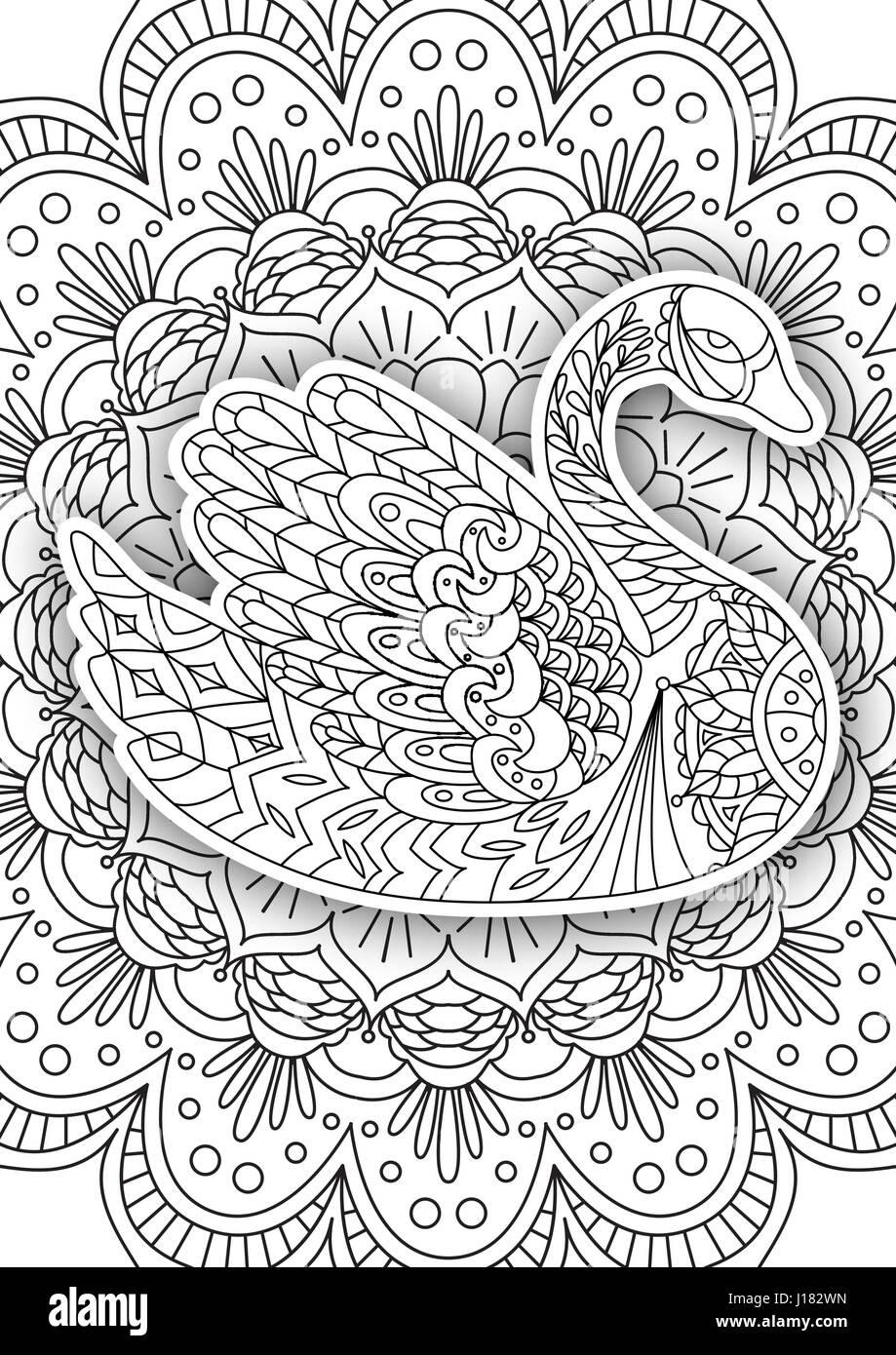 Libro para colorear para imprimir la página para adultos - diseño ...