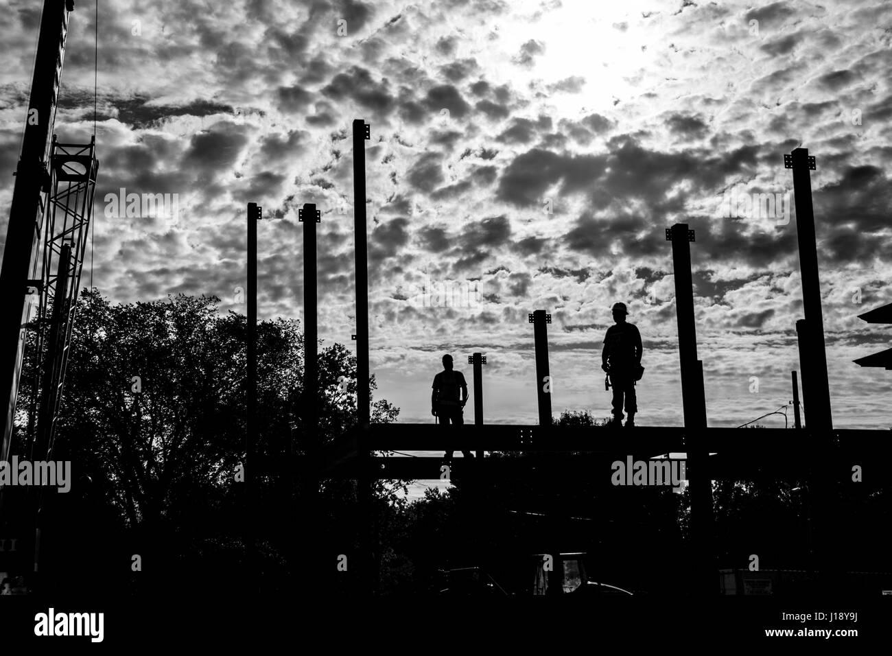 La construcción en el cielo Foto de stock