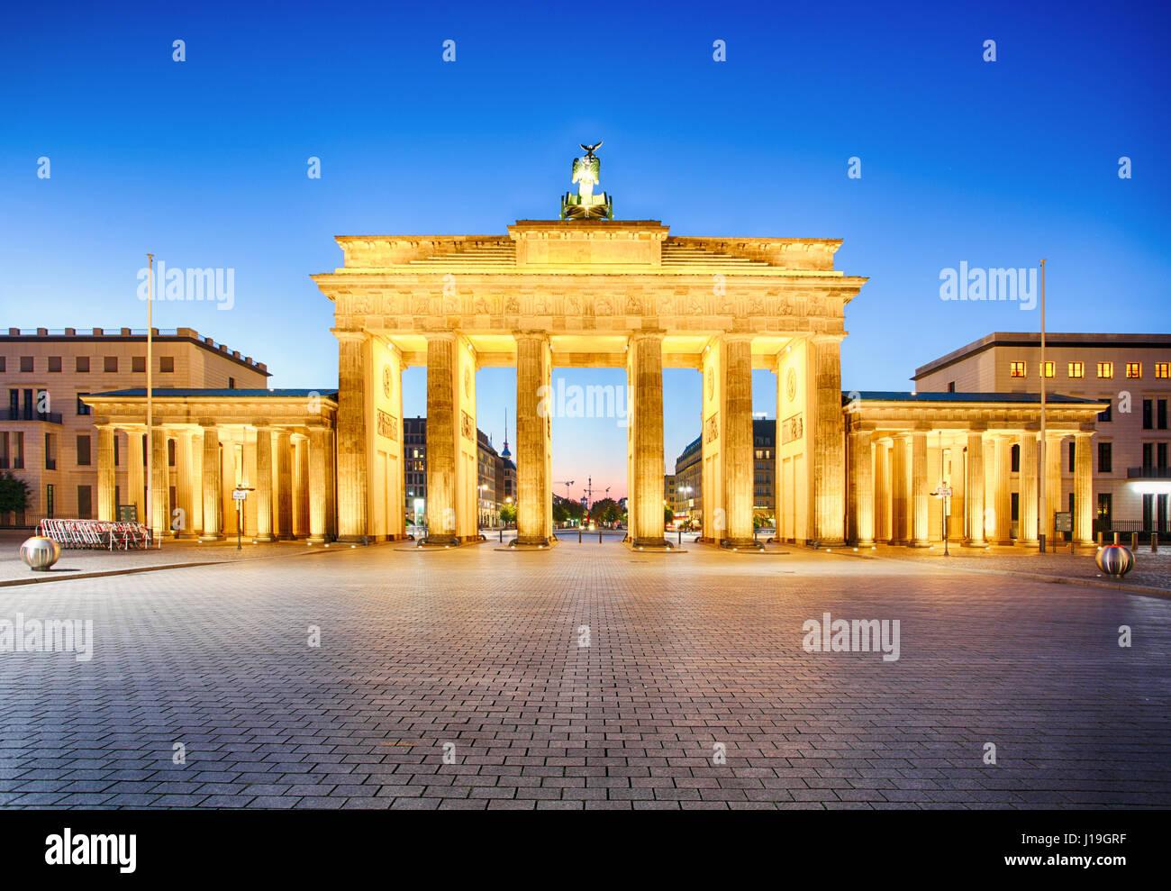 Puerta de Brandenburgo de Berlín, Alemán Imagen De Stock