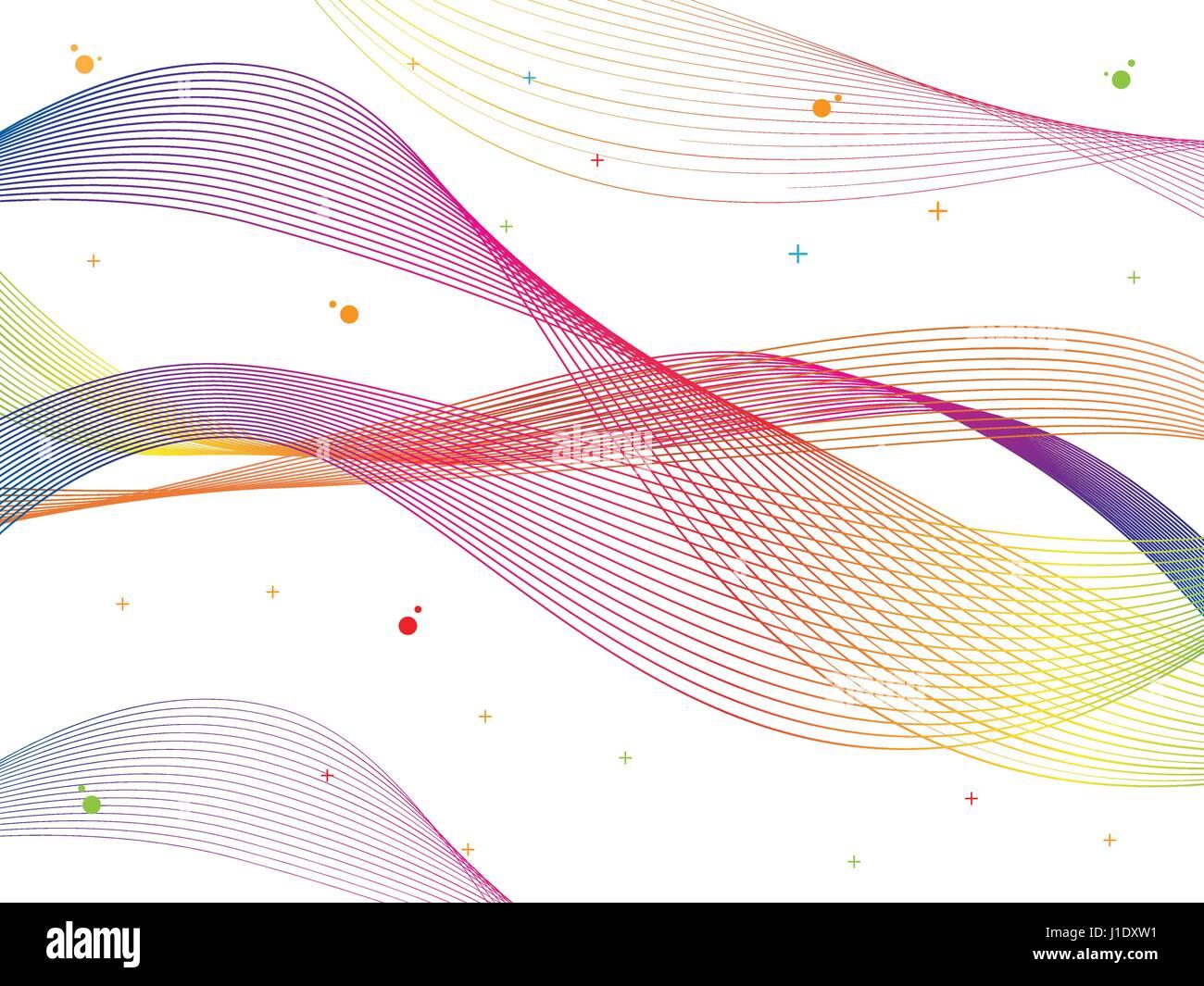 Abstract vector de onda de color suave. La curva de flujo de movimiento coloridas ilustraciones. Humo colorido diseño ondulado. Líneas de vectores. Ilustración del Vector