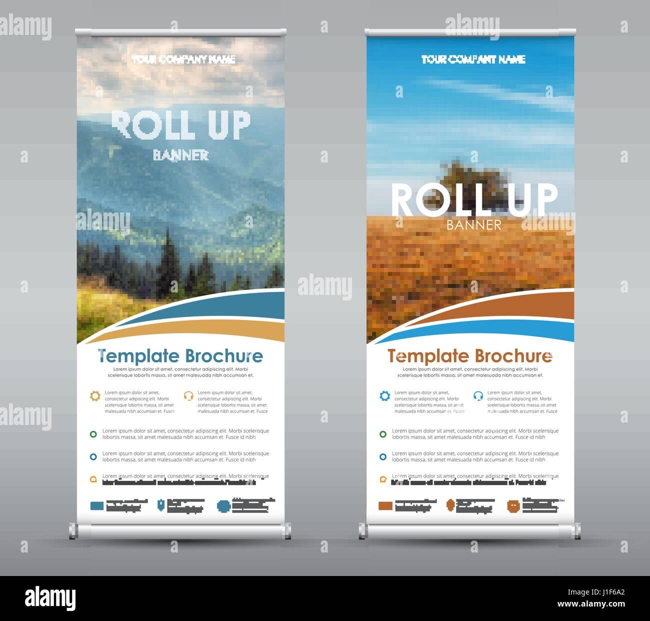 Plantilla Roll up Banner universal para negocios o viajes. Diseñar ...