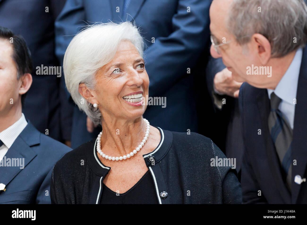 Washington, EEUU, 21 de abril de 2017: G20 Los Ministros de Finanzas y Gobernadores de los bancos centrales posar Foto de stock