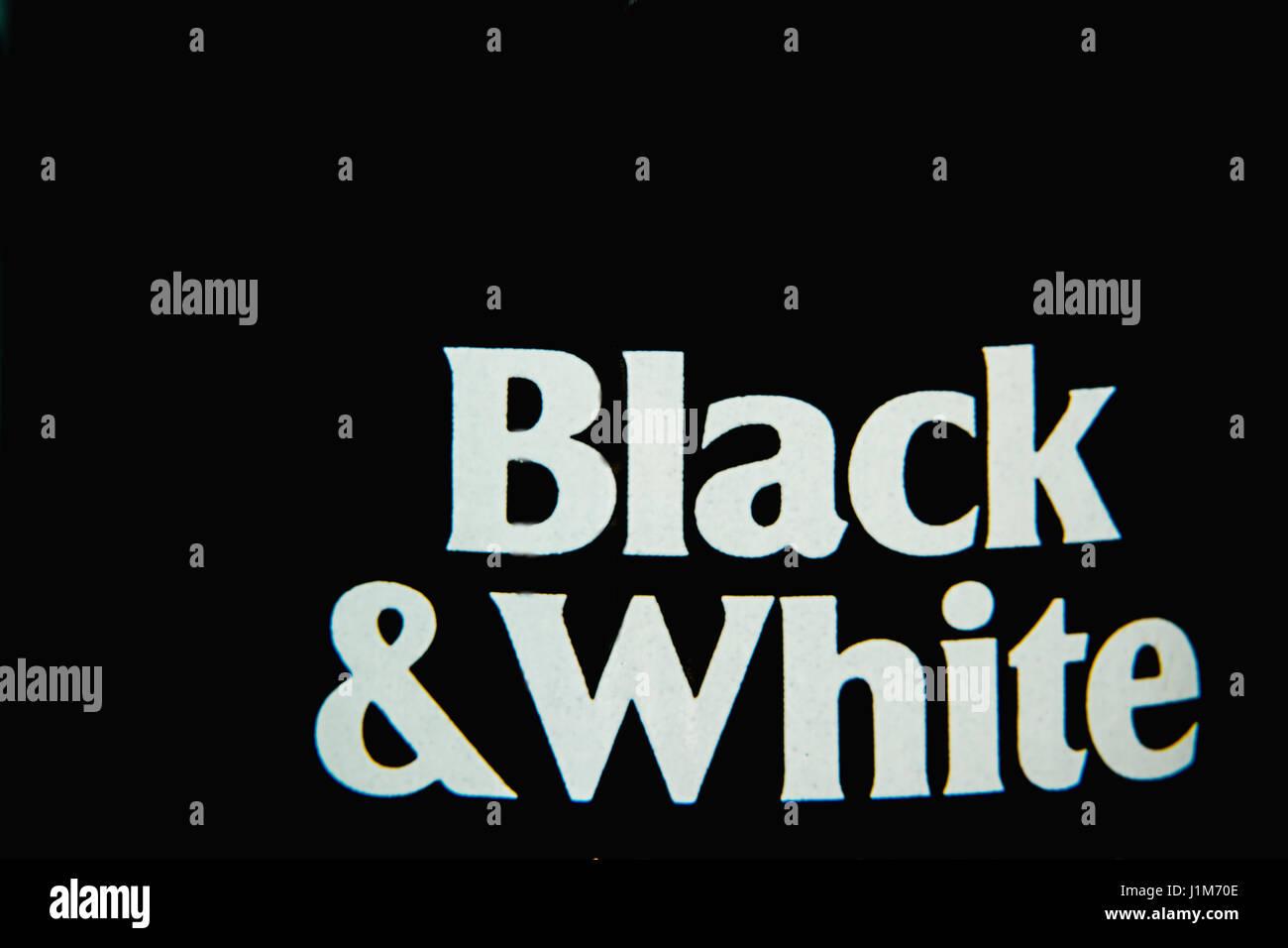 Simplemente en blanco y negro Foto de stock