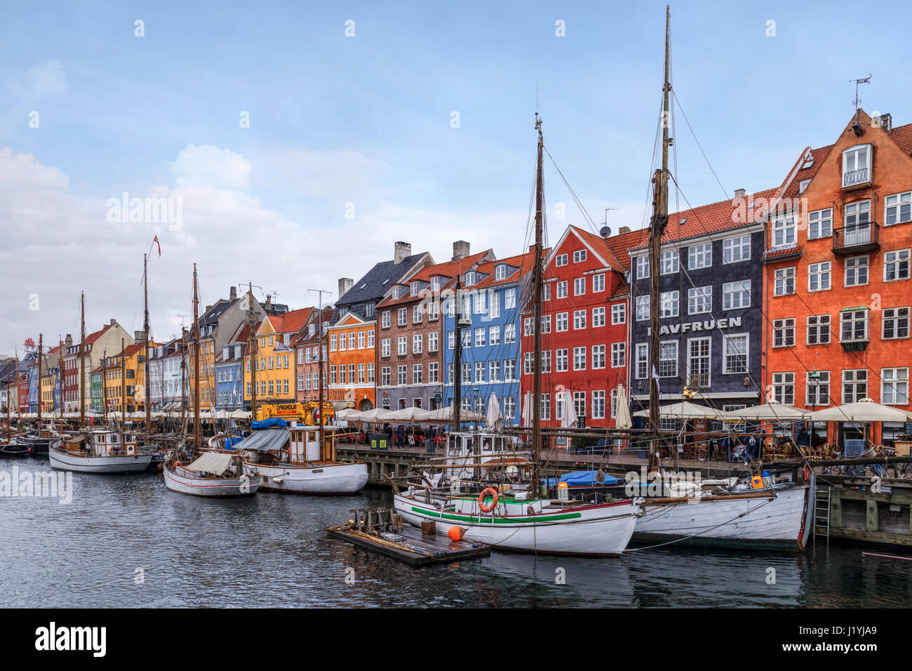Nyhavn, Copenhague, Dinamarca, Escandinavia Foto de stock