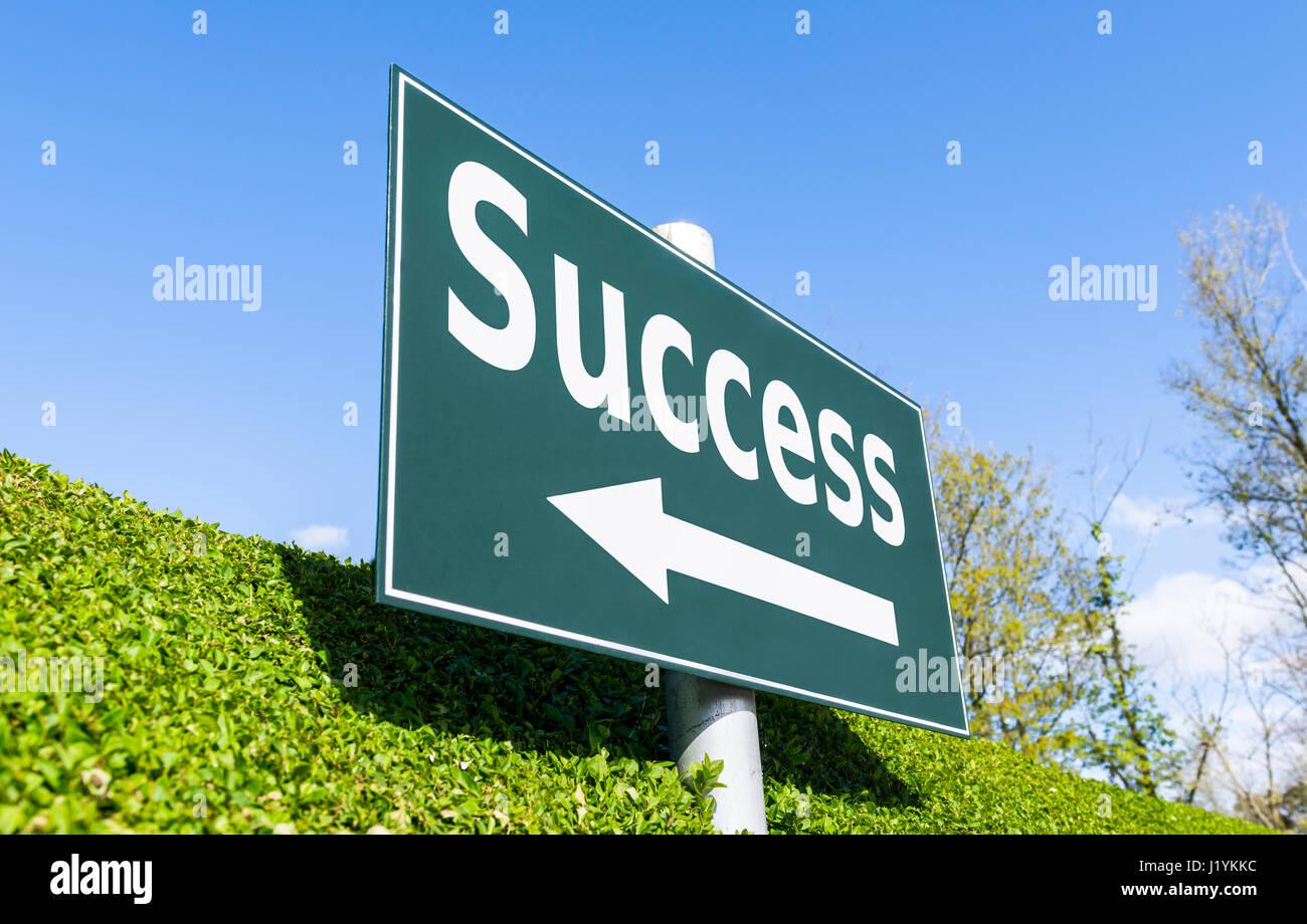 Concepto de éxito signpost. Imagen De Stock