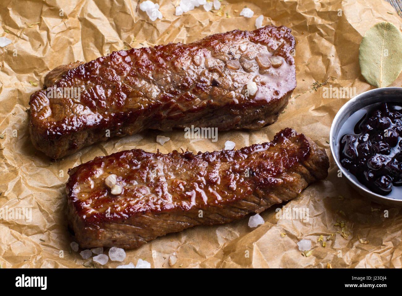 Still life - filete de cerdo. Imagen De Stock