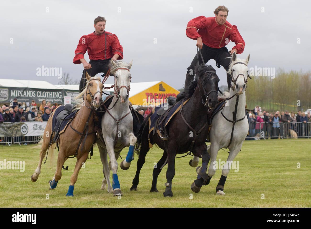 Los Diablos jinetes stunt team mostrar Imagen De Stock