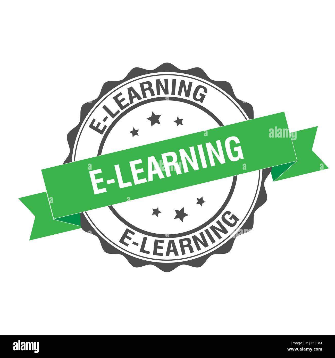 E -learning ilustración del sello Foto de stock