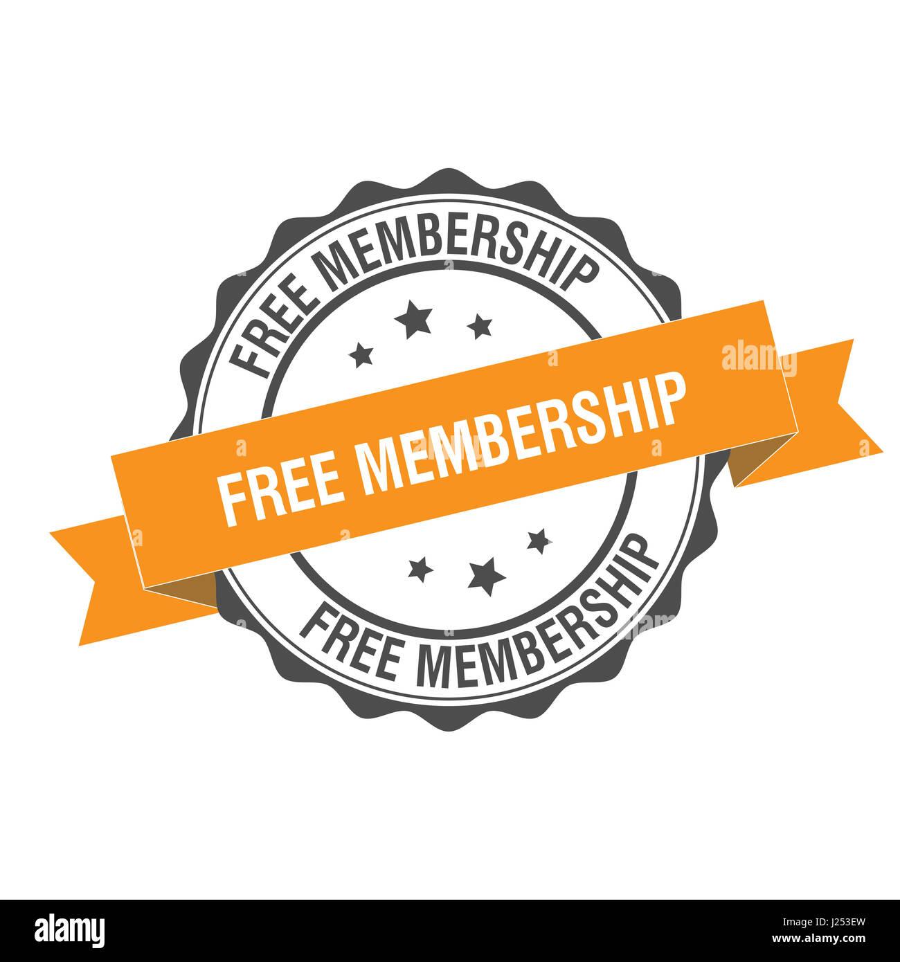 Membresía gratis sello ilustración Imagen De Stock