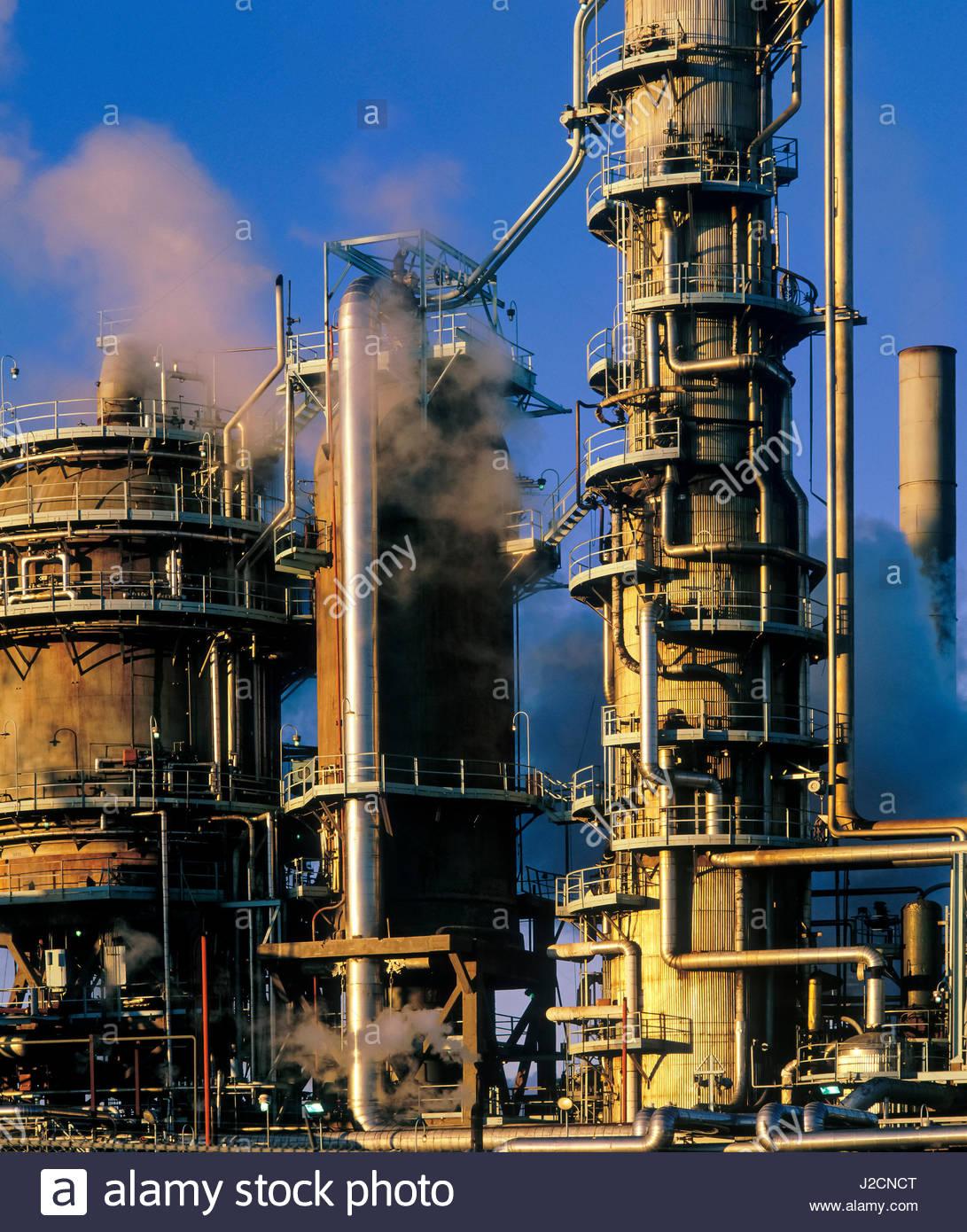 Refinería de Petróleo, Dartmouth, Nova Scotia, Canadá. Foto de stock