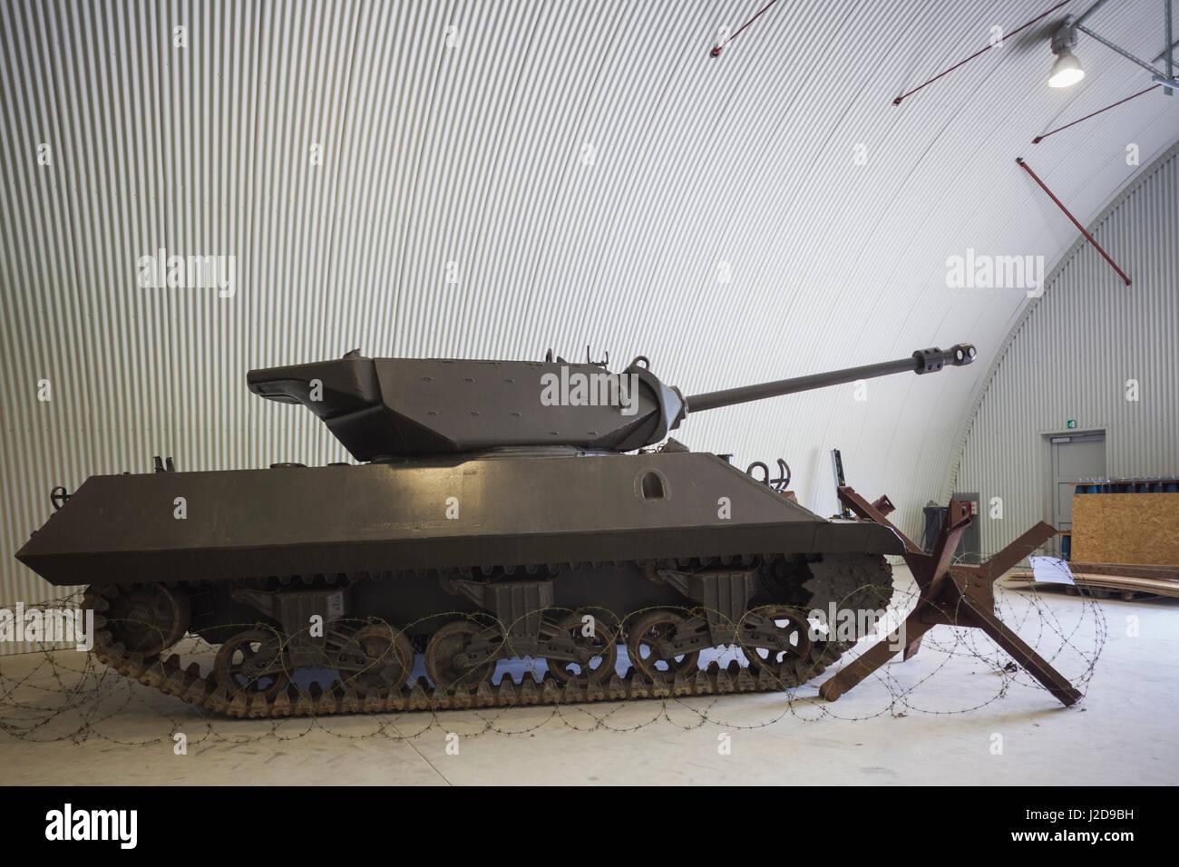 Dinamarca, Langeland, Langelandsfort Bagenkop, Museo de la guerra fría, los artefactos de la guerra fría Imagen De Stock
