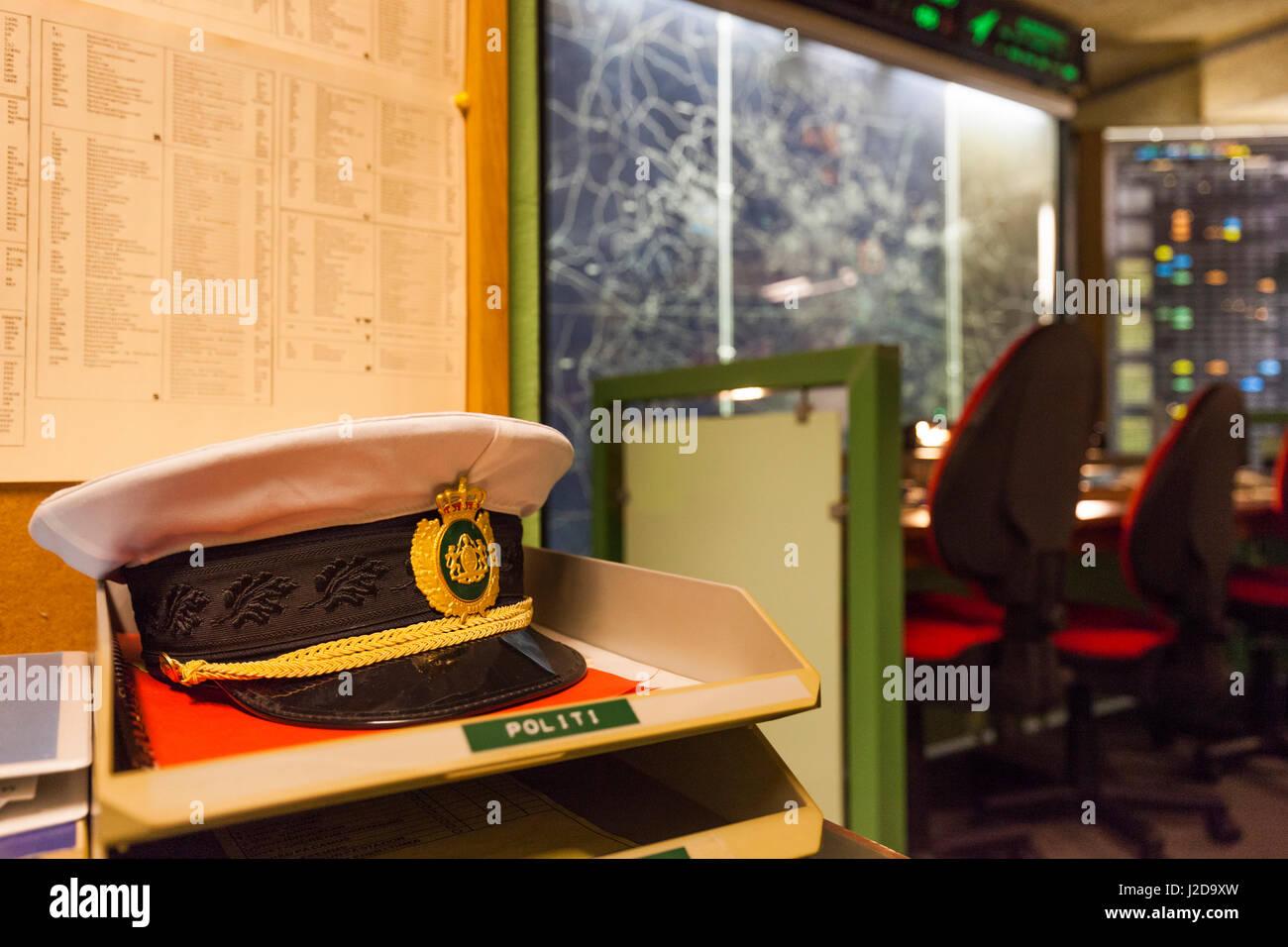 Dinamarca, Fionia, Odense, Odense Bunker Museum, de la época de la guerra fría interior bunker de Defensa Imagen De Stock