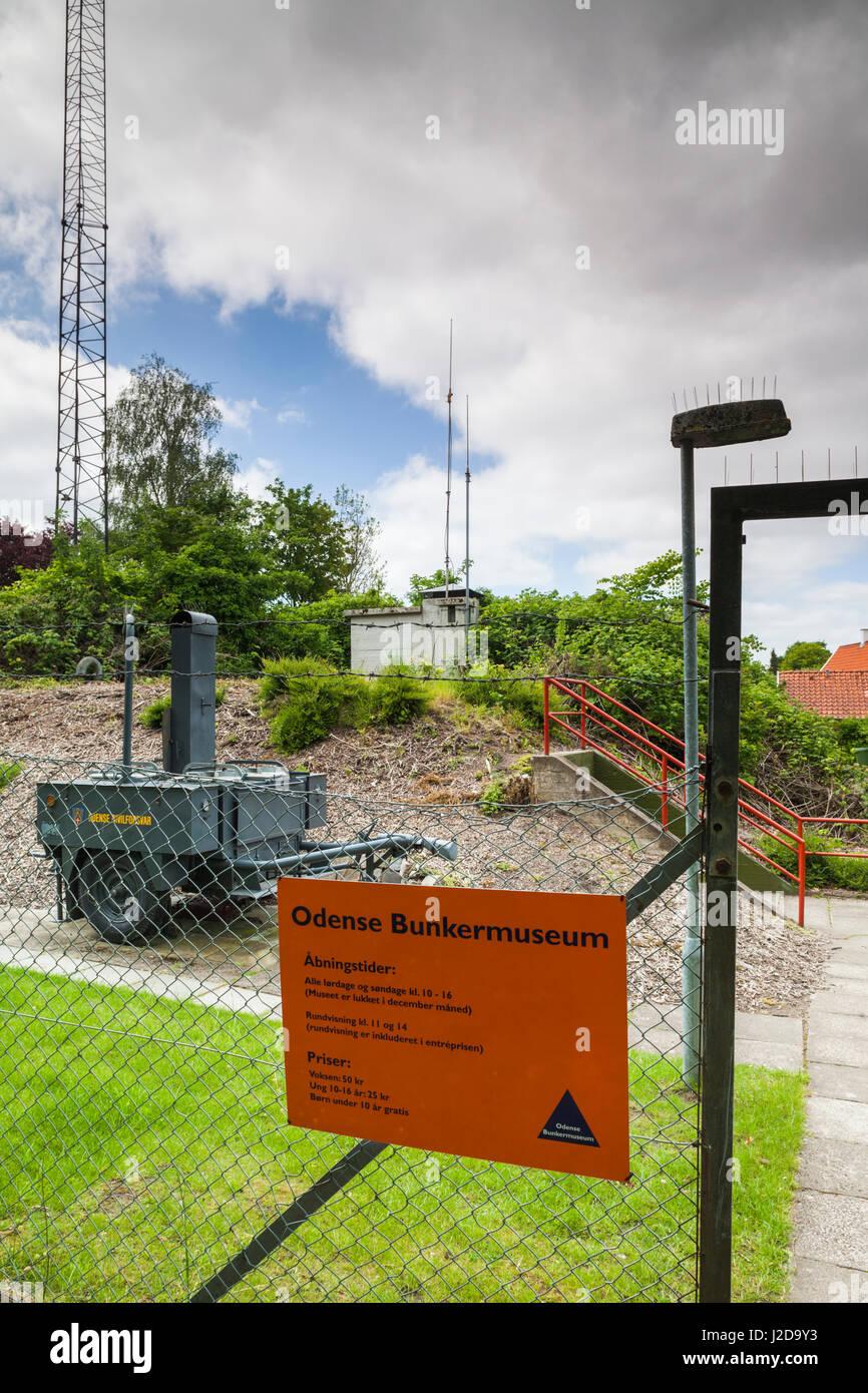 Dinamarca, Fionia, Odense, Odense Bunker Museum, de la época de la guerra fría bunker de Defensa Civil Imagen De Stock