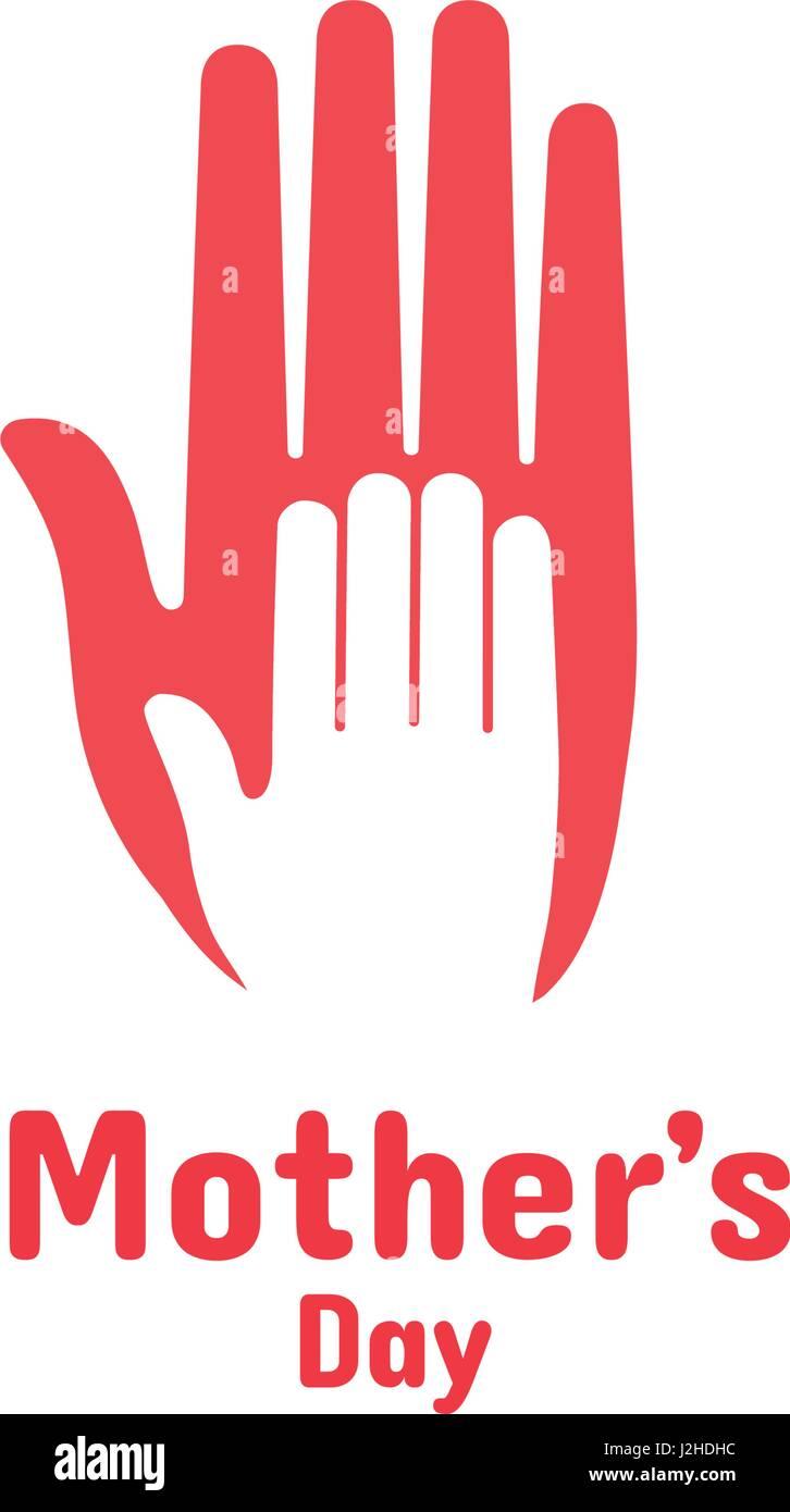 Elemento de diseño vectorial. Mano de niño recostado sobre la mano de  mujer 4ede4d46693a