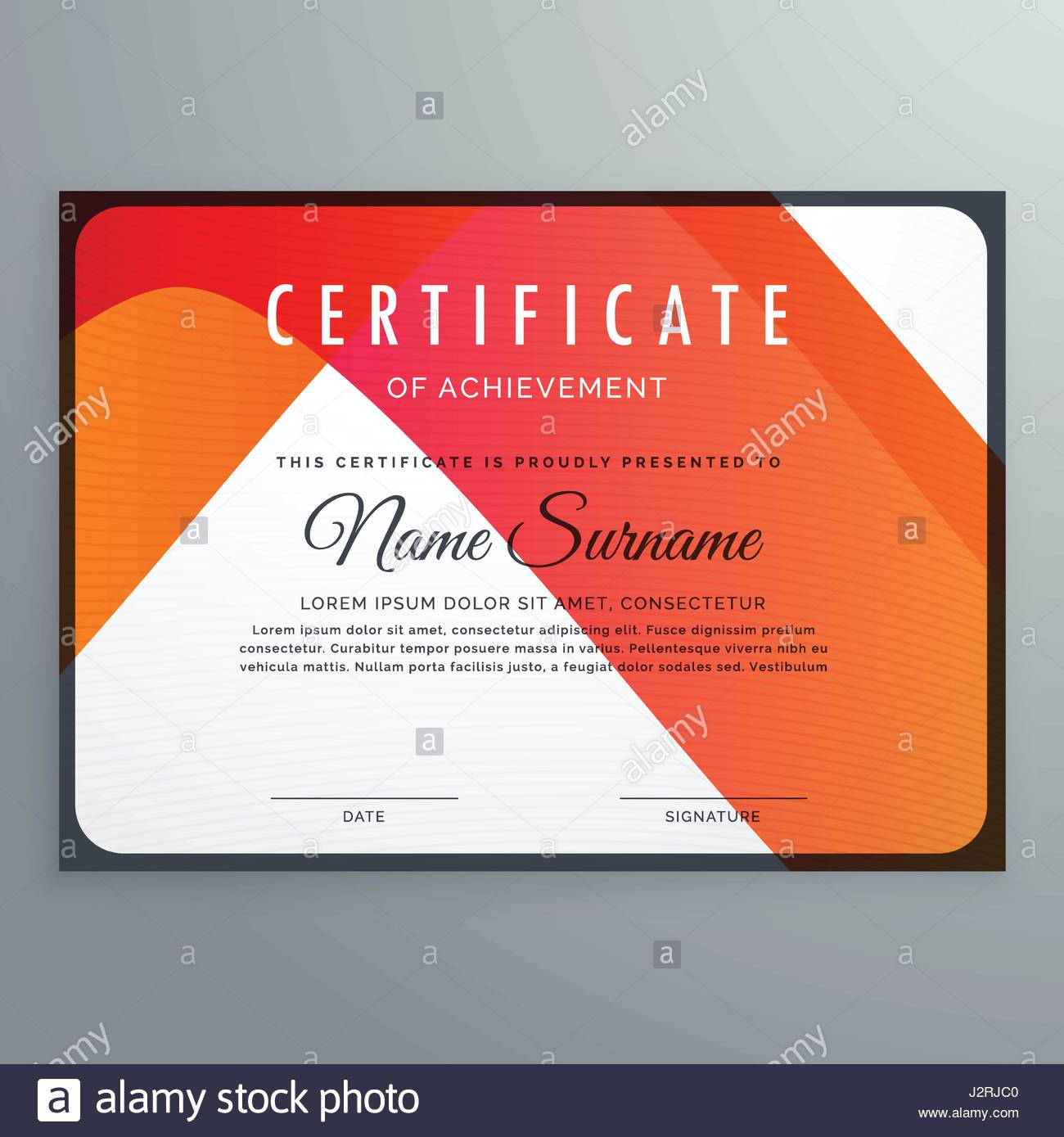 Elegant Appreciation Certificate Template Design Imágenes De Stock ...