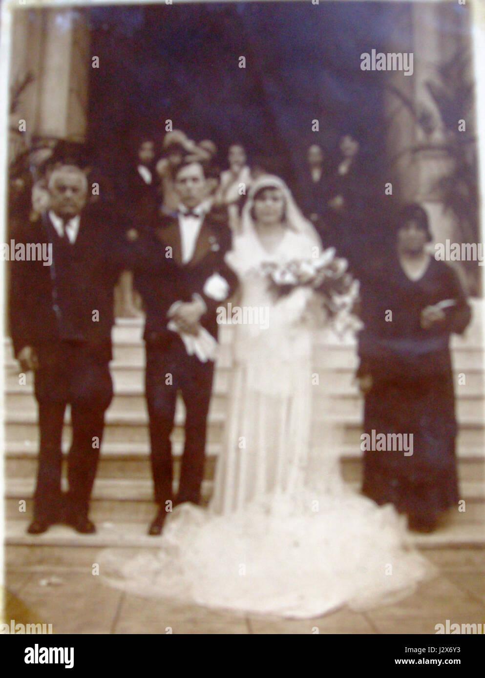 Carmen Cappellano, marido e pais Imagen De Stock