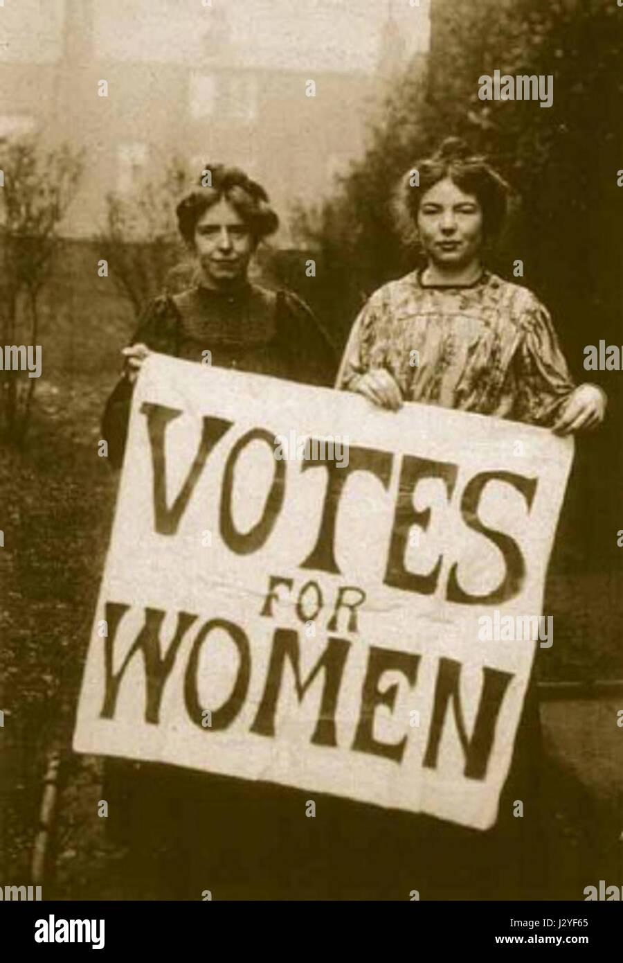Annie Kenney y Christabel Pankhurst Foto de stock