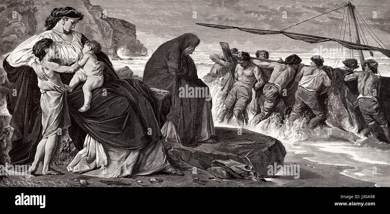 Medea's Farewell, la mitología griega Imagen De Stock